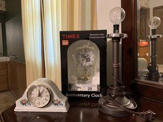 2 clocks  light
