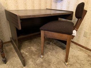 Desk w  rolling chair