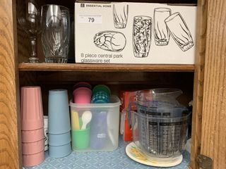 Glassware  tumblers  measuring bowls