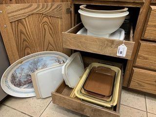 Bakeware  platters  serving bowls  storage