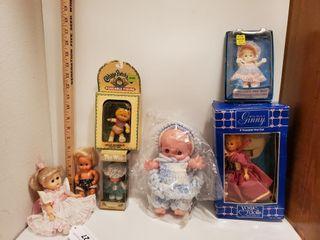 7 asst  dolls