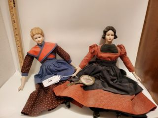 2 porcelain dolls