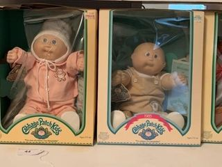 3 Cabbage Patch Dolls & clothing