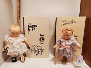 1 Kewpie doll  1 Scootles Doll