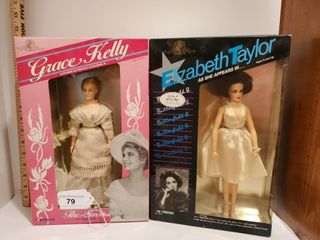 Elizabeth Taylor   Grace Kelly Poseable Dolls