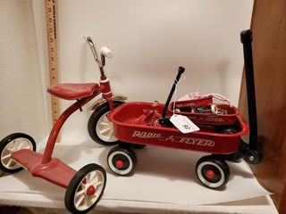 Radio flyer toy wagons and bicycle