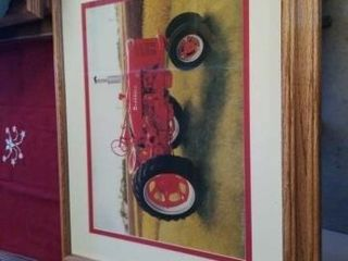 23  x 19  CORMICK FARMAll TRACTOR IN A lIGHT