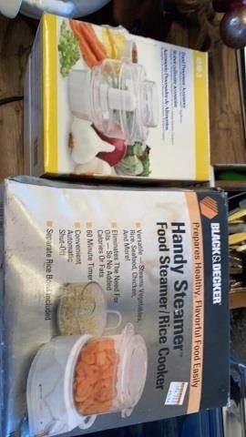 NEW IN PKG FOOD PROCESSOR ACCESSORY AND FOOD RICE