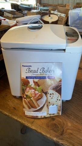 PANASONIC BREAD MAKER AND INSTRUCTION BOOK