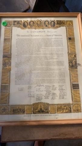 FRAMED DEClARATION OF INDEPENDENCE 17 By 21IJ
