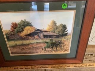 FARN SCENE ART WITH JOHN DEERE TRACTOR BY JUDY