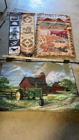 FARM SCENE TAPESTRy 2 AUTUMN TAPESTRIES AND
