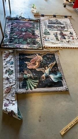 4 CHRISTMAS TAPESTRIES