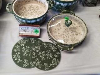 6 PIECE TEMP  TATIONS PRESENTABlE OVENWARE