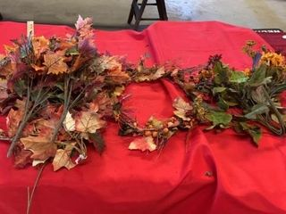 FAll FlOWERS AND WREATH  GREENERY