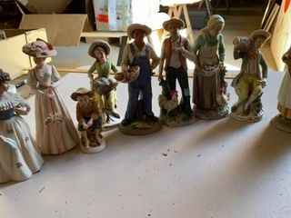 9 HOME INTERIOR FIGURINES