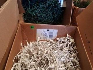 NUMEROUS STRANDS OF CHRISTMAS lIGHTS
