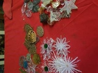 NUMEROUS  UNIQUE DECORATIVE ORNAMENTS  PlASTIC