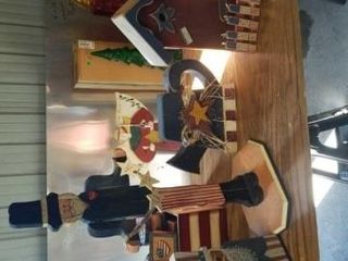 FOURTH OF JUlY WOOD BIRD HOUSE  UNClE SAM  TEA