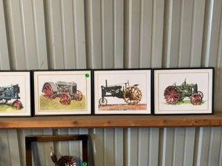 4 TRACTOR PICTURES  EQCH IS 11IJ BY 14IJ