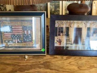 2 PATRIOTIC AMERICANA PICTURES