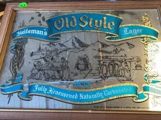 HEIlEMANS OlD STYlE BEER MIRROR  20IJ by 14IJ