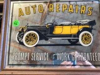 AUTO REPAIR MIRROR SIGN 12IJ by 16IJ