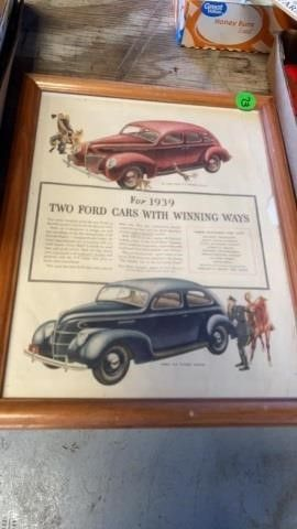 1939 FORD CARS FRAMED IN PIC