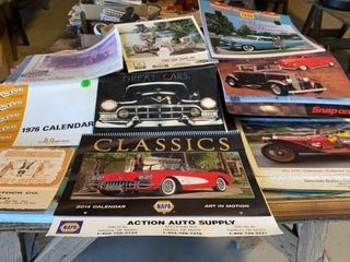 BOX OF CAR CAlENDARS AND FAIRBURY lIVESTOCK