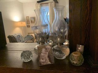2- Oil Lamps, Candleholders & More
