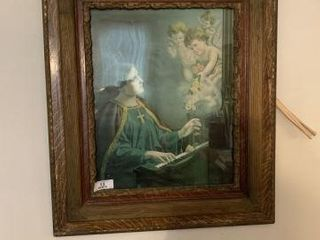 Framed Religious Picture