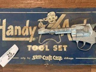 Child's Toy Tool Set & Capgun