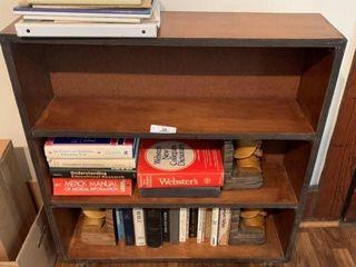 Bookcase w/ Books & Bookends