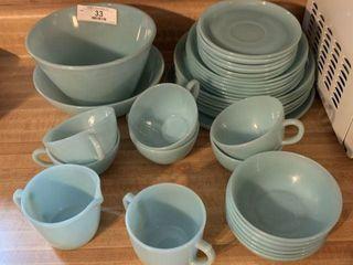 Vintage Blue Fire King Dishware