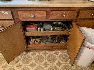Contents of Lower Kitchen Cabinet