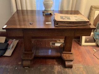 Empire Style Single Drawer Library Table