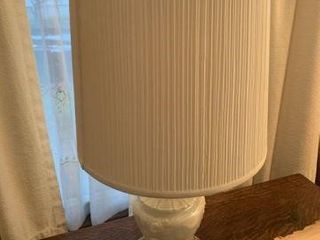 Lamp w/ Shade & Pedestal Lamp w/ Shade