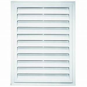 Royal 26 in x 20 in White Rectangle Plastic Gable Vent