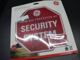 GE Security Sign