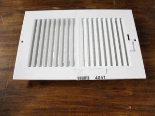 White HVAC Vent