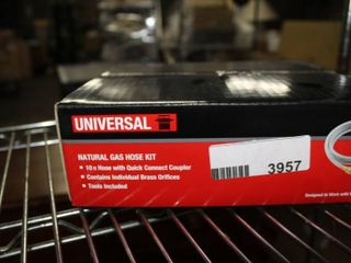 Universal Natural Gas hose Kit   10 ft