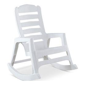 Adams Adirondack Real Comfort Plastic Rocking Chair  White