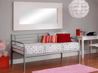 DHP Metal Daybed  Twin  Silver