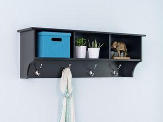 Entryway Cubbie Shelf Black   Prepac