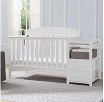 Delta Children Abby Convertible Crib  N  Changer White