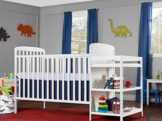 Dream On Me Anna 4 in 1 Convertible Crib and Changer  White