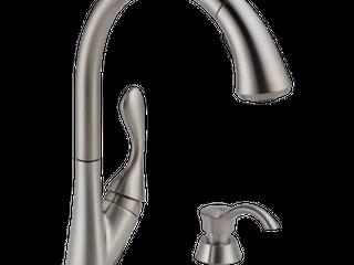 Delta Ashton Single Handle Pull Down Kitchen Faucet  Stainless