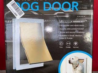 Extreme Dog Door  Pure Aluminum Dog Door Dual Flap Size  l