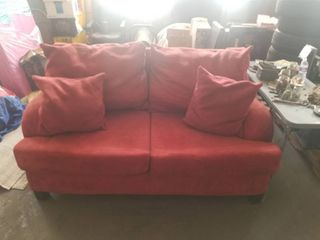 Red Microfiber Couch