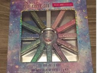 Glittering Hair Chalk Set 12 Colors  For Hair  Face   Body  Sealed  4a1
